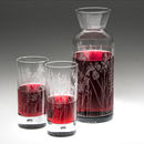 Floral Glass Carafe