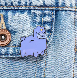 30mm Llama Space Princess Enamel Pin