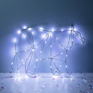 Polar Bear Christmas Silhouette Light - christmas decorations