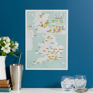 Personalised Scratch Off UK Gin Distilleries Print - our favourite gin gifts