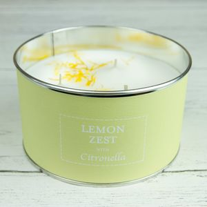 Lemon Zest Citronella Three Wick Candle