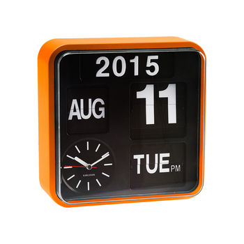 Orange Wall Flip Clock