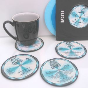 Personalised Vinyl Coasters Motown Set Of Four Lp's
