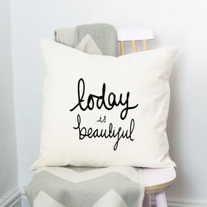 Positivity Quote Cushion - patterned cushions