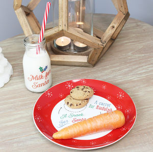 Christmas Eve Plate And Milk Bottle Set - christmas home