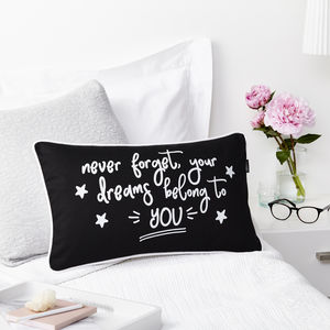 Dreams Belong To You Boudoir Cushion