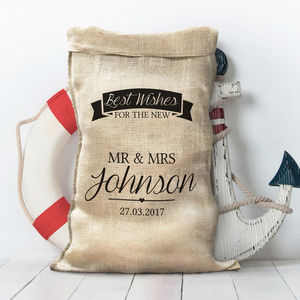 Personalised Hessian Wedding Sack - wedding post boxes