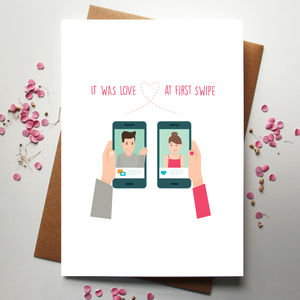 Love At First Swipe Card - new lines added