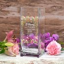 Personalised Flower Design Vase For Mum