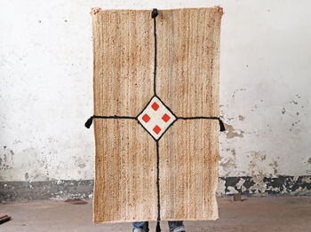 Handwoven Jute Floor Rug Diamond