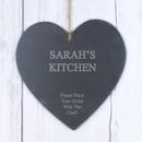 Large Personalised Engraved Slate Heart
