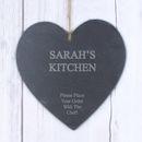 Large Personalised Engraved Slate Heart