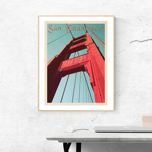 San Francisco Golden Gate Bridge Travel Print - posters & prints