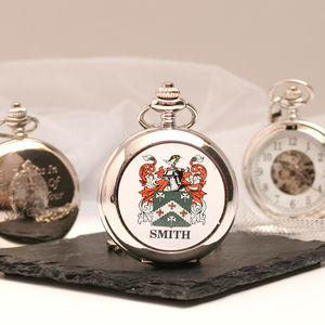 Mechanical Pocket Watch With Coat Of Arms - watches