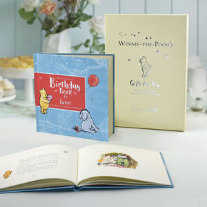 Personalised Winnie The Pooh Birthday Book - gifts for children