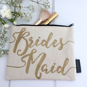 'Bridesmaid' Make Up Bag - be my bridesmaid
