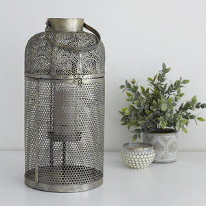 Large Champagne Gold Moroccan Lantern - home accessories