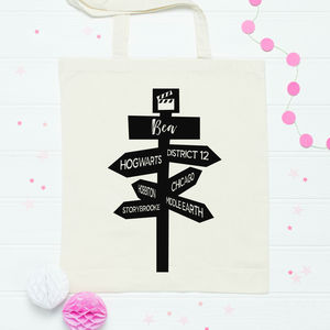 Personalised Movie Signpost Bag