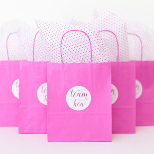Hen Party Gift Bag | Pink - hen party ideas