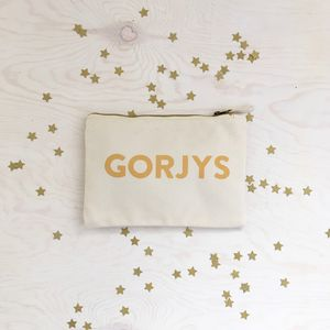 'Gorjys' Welsh Zipped Purse - purses & wallets