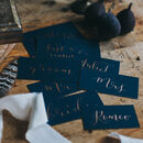 Navy Place Card
