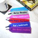 Personalised Wool Felt Bookmark