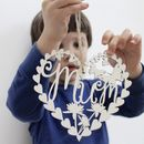 Mothers Day Mum Laser Cut Hanging Decoration