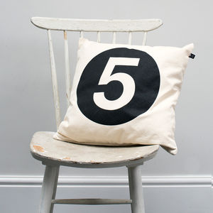 Number 'Five' Cushion Cover - children's room