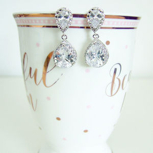 Cubic Zirconia Earrings - bridal jewellery