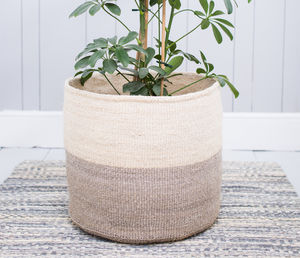 Dove Grey Colour Block Baskets