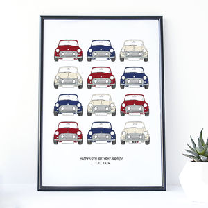 Personalised Mini Cooper Car Print