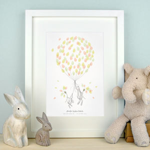 Bunnies Fingerprint Keepsake - pictures & prints for children