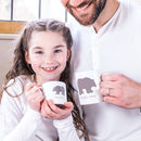 Personalised Daddy Bear And Baby Polar Bear Mugs