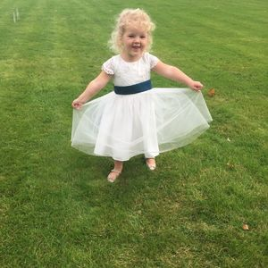 Lace And Tulle Flower Girl Dress In 35 Colours - bridesmaid dresses