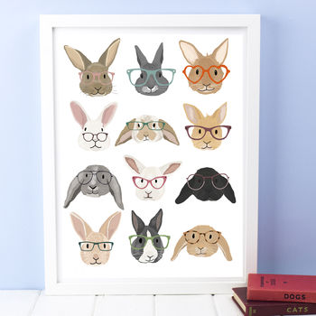 Rabbits In Glasses