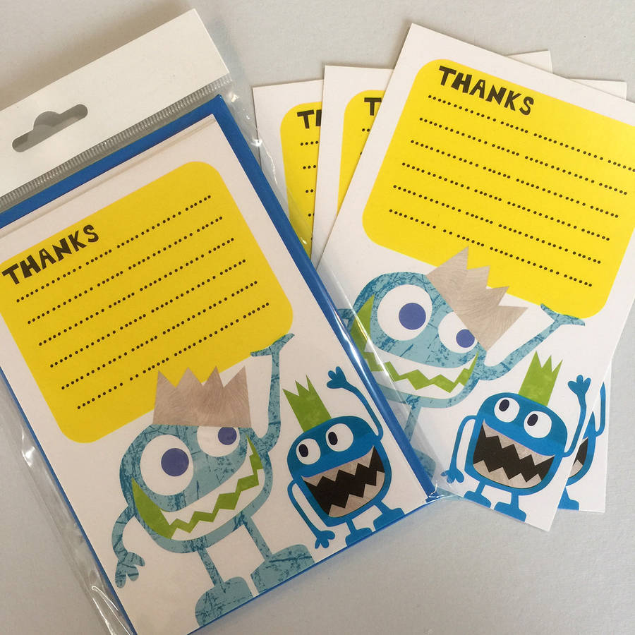 Monster Thank You Cards