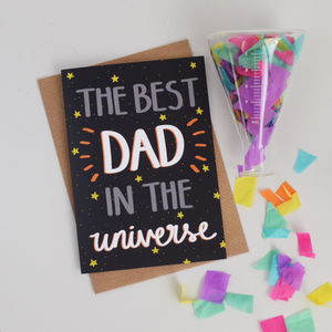 Best Dad In The Universe Fathers Day Card