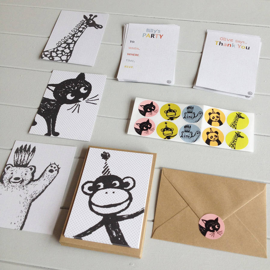 giraffe party invitations and thank you postcards by petra boase – Giraffe Party Invitations