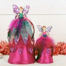 Pink Peacock Fairy Christmas Tree Decoration