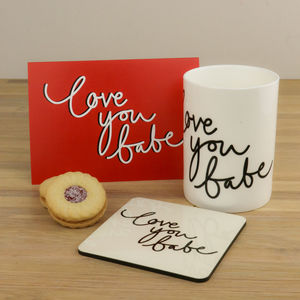 Personalised Love You Babe China Mug - dining room