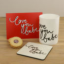 Personalised Love You Babe China Mug