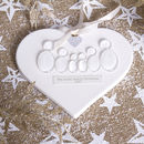Personalised Family Glass People Heart Decoration