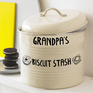Personalised Biscuit Barrel - gifts for fathers