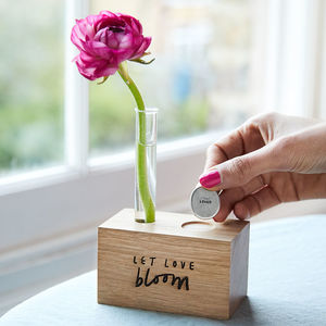 'Let Love Bloom' Vase And Token Set - tableware
