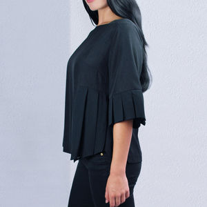 Kingston Blouse Top With Bell Sleeves - more