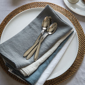 Charcoal Linen Napkin - table linen