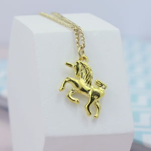 Gold Plated Unicorn Necklace - children's accessories