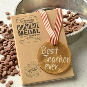 Best Teacher Ever Belgian Chocolate Medal - chocolates & confectionery