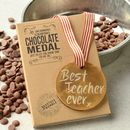 'Best Teacher Ever' Chocolate Gold Medal