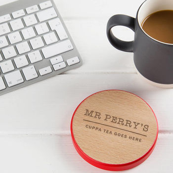 personalised coaster - personalised wooden coaster - teachers coasters - personalised teacher gifts - presents for teachers